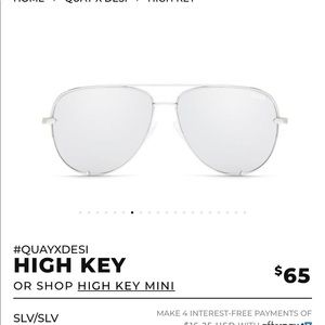 BN Quay x Desi Perkins HIGH KEY in silver/silver